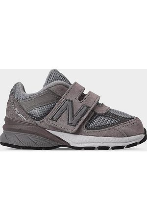 New Balance Casual Shoes - Boys' Toddler 990v5 Casual Shoes in Grey Size 4.0 Leather/Suede