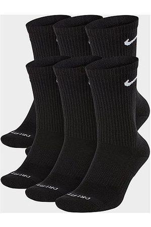 Nike Everyday Plus Cushioned 6-Pack Crew Training Socks in Size Large