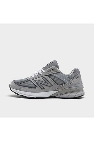 New Balance Men Casual Shoes - Men's 990v5 Casual Shoes in Grey/Grey Size 9.5 Leather/Suede
