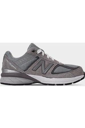 New Balance Boys' Little Kids' 990v5 Casual Shoes in Grey/Grey Size 1.5 Leather/Suede