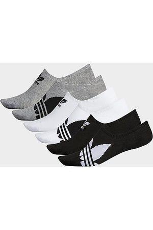 adidas Men's Trefoil 6-Pack Footie Socks in Size Large Cotton
