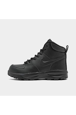 Nike Boys' Big Kids' Manoa Leather Boots in Size 3.5 Leather/Suede