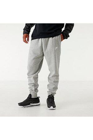 Nike Men's Sportswear Club Fleece Jogger Pants in Grey Size Large Cotton/Polyester/Fleece