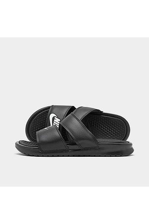 Nike Women Sandals - Women's Benassi Duo Ultra Slide Sandals in Size 12.0 Leather