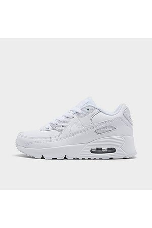 Nike Boys' Little Kids' Air Max 90 Casual Shoes in Size 1.0 Leather