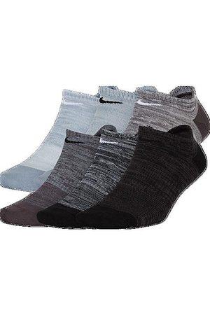 Nike Women's Everyday 6-Pack Lightweight No-Show Training Socks in Grey/ Size Medium Knit