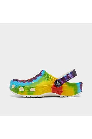 Crocs Clogs - Unisex Classic Tie-Dye Graphic Clog Shoes in / Size 7.0