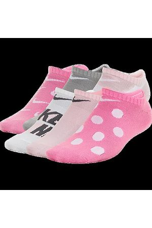 Nike Socks - Kids' Everyday 6-Pack Lightweight Graphic No-Show Socks in / Size 5-7 Spandex/Lycra