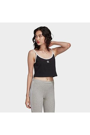 adidas Women Tank Tops - Women's Originals Crop Spaghetti Strap Tank Top in Size Medium Cotton