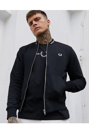 Fred Perry Men Bomber Jackets - Zip through bomber sweat in