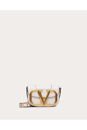 VALENTINO GARAVANI Small Supervee Calfskin Crossbody Bag Women Optic 100% Pelle Di Vitello - Bos Taurus OneSize