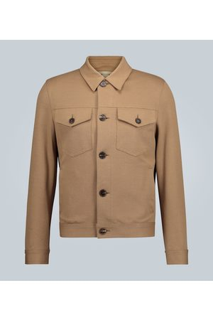 Harris Wharf London Stretch piqué shirt jacket