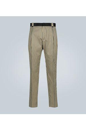 Dolce & Gabbana Striped cotton and silk-blend pants