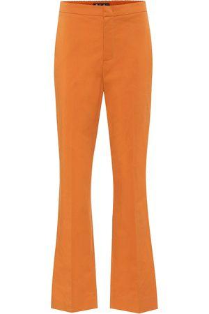 Loro Piana High-rise flared cotton pants