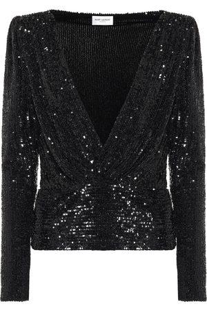 Saint Laurent Sequined blouse