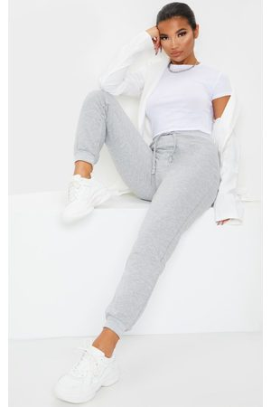 PRETTYLITTLETHING Grey Ultimate Marl Sweat Joggers