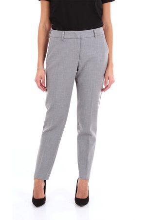 Cappellini Women Chinos - Chino Women Grey polyester - viscose - cotton - elastane