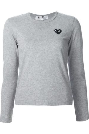 Comme des Garçons Chest patch longsleeved T-shirt - Grey