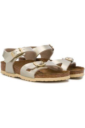 Birkenstock Rio metallic sandals
