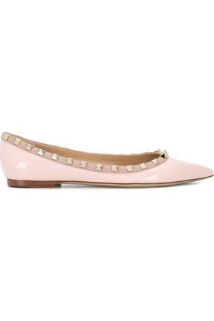 VALENTINO GARAVANI Rockstud pointed ballerina shoes