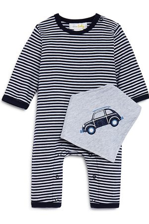 Bloomie's Boys' Striped Coverall & Bib Set, Baby - 100% Exclusive
