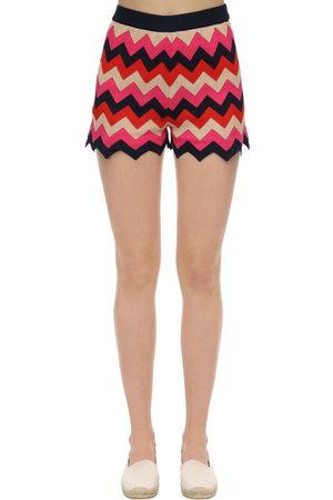 M Missoni Cotton Rib Knit Shorts
