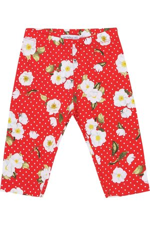 MONNALISA Baby floral stretch-cotton leggings