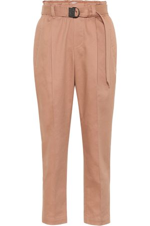 Brunello Cucinelli Belted high-rise carrot pants