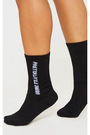 PRETTYLITTLETHING Women Socks - Logo Socks