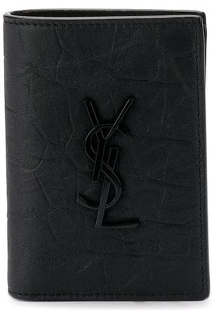 Saint Laurent Crocodile-embossed cardholder