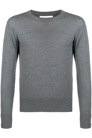 Thom Browne Men Sweatshirts - RWB stripe jumper - Grey