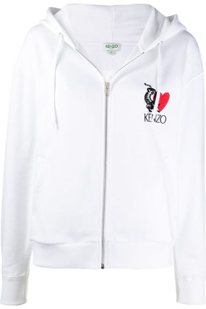 Kenzo Embroidered zip-through sweatshirt