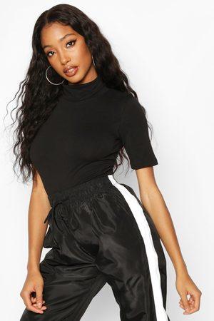 Boohoo Womens Short Sleeved Turtleneck Top - - 2