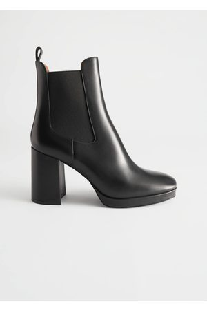 & OTHER STORIES Block Heel Leather Chelsea Boots