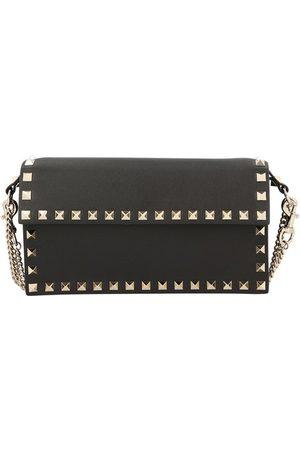 VALENTINO Garavani Rockstud clutch bag with chain