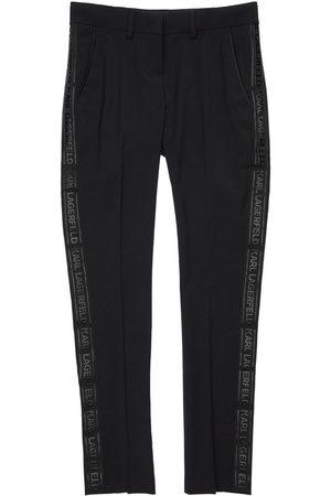 Karl Lagerfeld Boys Pants - Wool Blend Tuxedo Pants