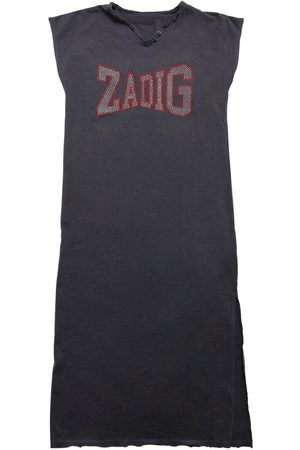 Zadig & Voltaire Cotton Jersey Dress W/ Logo Detail