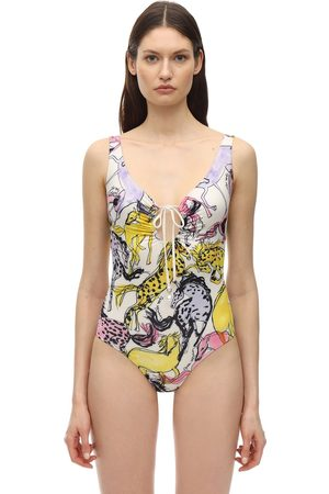 Stella McCartney Horse Printed One Piece Swimsuit