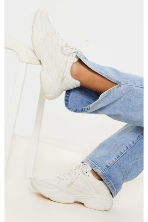 PRETTYLITTLETHING Ecru Arch Sole Chunky Sneakers