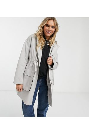 ASOS ASOS DESIGN Maternity lightweight parka in washed gray