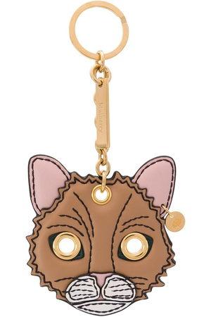 MULBERRY Fluffy Cat keyring - Neutrals