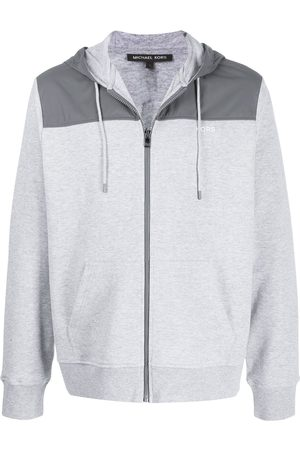 Michael Kors Logo printed zipped hoodie - Grey