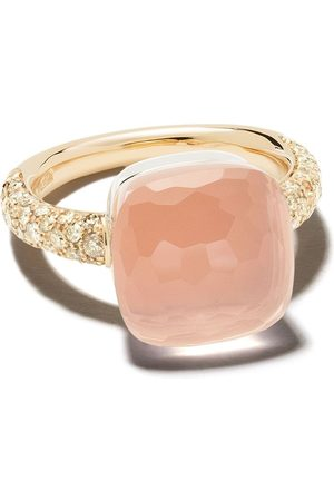 Pomellato Women Rings - 18kt rose gold stone ring