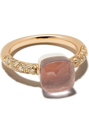 Pomellato 18kt rose gold diamond stone ring