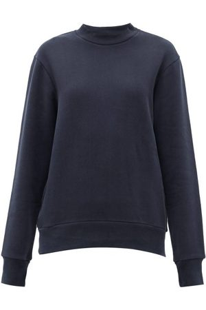 Raey - Crew-neck Cotton-blend Sweatshirt - Womens - Navy