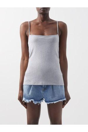 Raey Square-neck Cotton-blend Jersey Vest - Womens - Grey