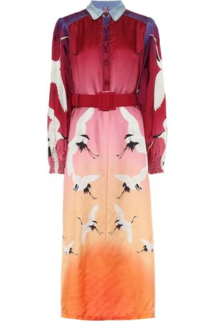 F.R.S For Restless Sleepers Sterope printed twill midi dress
