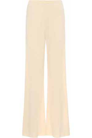 The Row Gala crêpe wide-leg pants