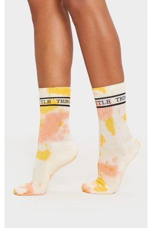 PRETTYLITTLETHING Jacquard Tie Dye Sock
