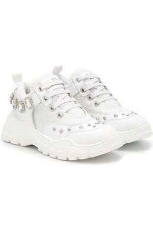 Ermanno Scervino Junior Girls Sneakers - Stud-embellished chunky sneakers